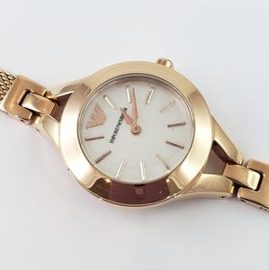 Emporio Armani Watch Gold Tone Mother of Pearl